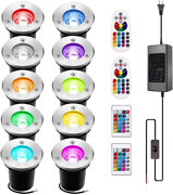 Innerwill Landscape Lighting 10pack 3w Rgb Innerwill Color Changing Led Lights