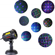 Ledmall Motion 8 Patterns In 1 Rgb Outdoor Garden Laser Christmas Lights With Rf