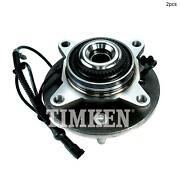For Ford F-150 Front Set Of 2 Wheel Bearing And Hub Assembly Timken Sp550212