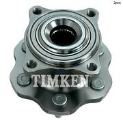 For Nissan Pathfinder Rear Set Of 2 Wheel Bearing And Hub Assembly Timken