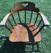Tell City Vintage Solid Hard Rock Maple Mates Armchair 8008 48 Andover Finish 1