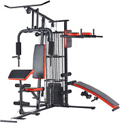 Home-gym-system Workout-station With 380lb Of Resistance 145lb-weight Stack