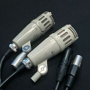Matched Pair Of Lomo 82a-5mu2 - Soviet Ussr Vintage Dynamic Microphones