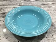 """Vintage Old Fiesta Turquoise 8 1/4"""" Deep Plate / Cereal Bowl -1930s- Mint Cond"""