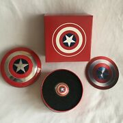 Captain America Shield 10g .999 Pure Silver Coin 2019 See More Frm 99c