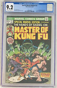 Special Marvel Edition 15 Cgc 9.2 1st Appearance Of Shang-chi Master Of Kung Fu