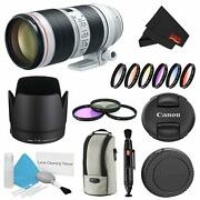 Canon Ef 70-200mm F/2.8l Is Iii Usm Lens Bundle W/ 3 Piece Filter Kit And Color