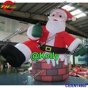 13ft Inflatable Santa Clause Christmas Holiday Decoration With Air Blower
