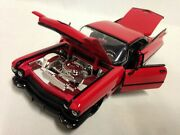 1959 Cadillac Coupe Deville Collectible 9.5 Diecast Metals 124 Jada Toy Red