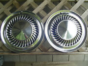 Two Vintage 1959 1960 Ford Thunderbird Galaxie Fairlane Hubcaps Wheel Covers