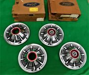 🔥 1966-1977 Ford Bronco 4x4 F100 F150 Truck Hubcaps Very Nice 15andrdquo Red Trim