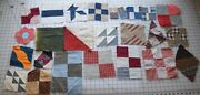 9426 18 Antique Mixed Quilt Blocks 1870-90and039s Diff Sizes Different Patterns