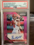 2018 Baker Mayfield Prizm Pink Auto Rc Rookie Psa 9 Browns
