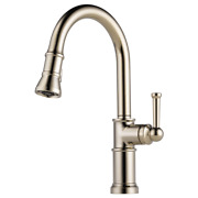 Brizo 63025lf-pn Artesso Polished Nickel 1 Handle Pull-down Kitchen Faucet New