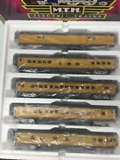 Mth 20-6598 O Scale Up 70and039abs Smooth Streamlined Passenger Car Set Of 5 3-rail