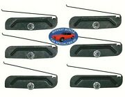 Chrysler Body Side Rocker 2 To 3-3/4 Trim Moulding Molding Clips And Nuts 6pc R