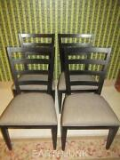 Ethan Allen Tango Ladderback Set Of 4 Chairs 38 6511 Black Painted Finish 659