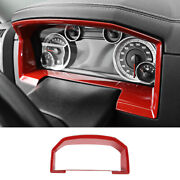 Console Dashboard Panel Trim Decor Frame For Dodge Ram 1500 2010-2017 Red Abs