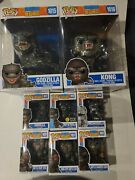 Funko Pop Movies Godzilla Vs. Kong Lot / Set Of 8 Pops - Complete Collection