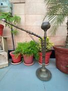 1890and039s Old Antique Brass Copper Islamic Mughal Handcrafted Big 35.5 Hookah Pot