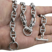 106g 20 51cm Heavy Curb Dragon Snake Skull 925 Sterling Silver Necklace Chain