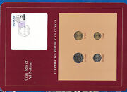 Coin Sets Of All Nations Guyana Wcard Unc 25105 Cents 1985 1 Cent 1982 Dec1284