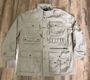 Brooks Brothers 8-pocket Hunting Tactical Tan Coat Mens Large Great Condition