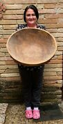 Old Huge Hand-hewn Wooden Dough Bowl Over 22---local Pick-up Only Primitive