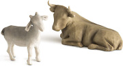Willow Tree Ox And Goat, Sculpted Hand-painted Nativity Figures, 2-piece Set