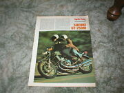 1975 Suzuki Gt-750m Le Mans Motorcycle Road Test Article 5 Pgs + Very Good