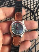 Swiss Army Womenand039s 1884 Officers Field Watch Withandnbspbezel And Date