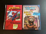 2-kids Books Marvel Spiderman Unmasked And Guardians Of The Galaxy Vol. 2 Rockets