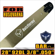 28 Guide Bar 3/8 .050 Compatible With Husqvarna 61 66 262 Xp 266 268 272 92dl