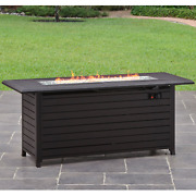 Outdoor Gas Fire Pit Table Fireplace Patio Yard Camping Heater Propane 57 Inch