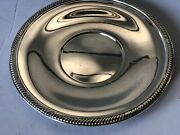 Vintage Reed Barton 1208 W/ Heart On Top Circle A Silver Plate Bowl Tray 10 1/2