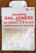 Ho Scale - Peco Sl-11 Insulating Rail Joiners For Code 100 And Code 124 Rail