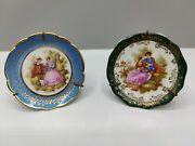 Lot Of 2 Vintage Limoges Miniature Plates 2.75 And 3 With Stands
