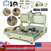Usb 4axis Cnc 6090 1500w Router Engraver Engraving Machine Drill Mill Carving Us