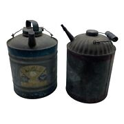 Antique Gasoline Eagle Can And Oil Can - Nice Pieces