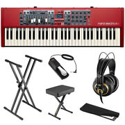 Nord Electro 6d Nord El61-note Stage Keyboard W/ K 240 Headphones Pedal And Cover