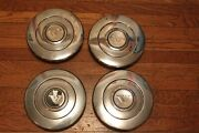 Volvo 240 Center Caps Hubcaps Stainless Set Clips Vintage 4 Complete