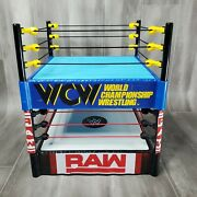 Wcw World Championship Wrestling And Wwe Raw Action Figure Wrestling Ring