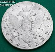 1 Rouble 1778 Russia Catherine Ii Silver