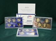 2008 S U.s. United States Mint Proof Set 14 Coin With Box And Coa For Collecting