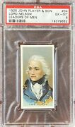 Lord Nelson 1925 John Player And Sons Leaders Of Men 34 Psa 6 Ex-mt Rare