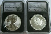 2019-w Ngc Pf70/70 Fdi Pride Of Two Nations Silver Eagle Set Mercanti And Taylor