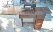 Vintage Antique Singer Sewing Machine With Table - Priced For Quick Sale