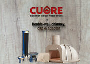 Cuore Ovens 1000 Plus Wood-fired Oven Kit With Double Wall Chimney And Iron Door