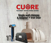 Cuore Ovens 1000 Plus Wood-fired Oven Kit With Single Wall Chimney And Iron Door