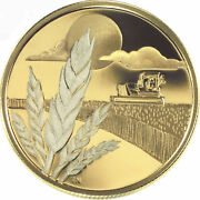 2003 Canada 100 Marquis Wheat Discovery 14k 1/4oz Gold Coin - Orig Packaging